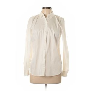 Apt 9 White Cotton Long Sleeve Button Up Blouse M